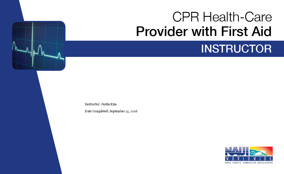 CPR HEALTH CARE PROVIDER WITH FIRST AID
