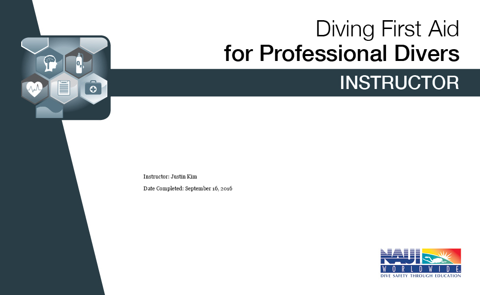 DIVING FIRST AID FOR PROFESSIONAL DIVERS